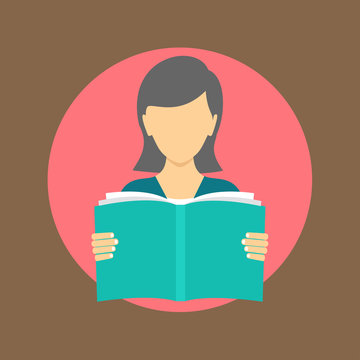 reading book icon. flat design
