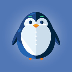 penguin icon. flat design