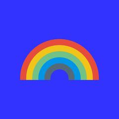 rainbow icon. flat design