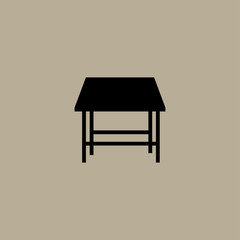 table icon. flat design