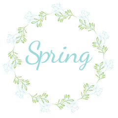 Vector Spring Flower Wreath for Presents
