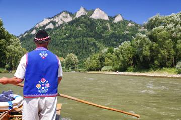 Rafting on river Dunajec, Slovakia