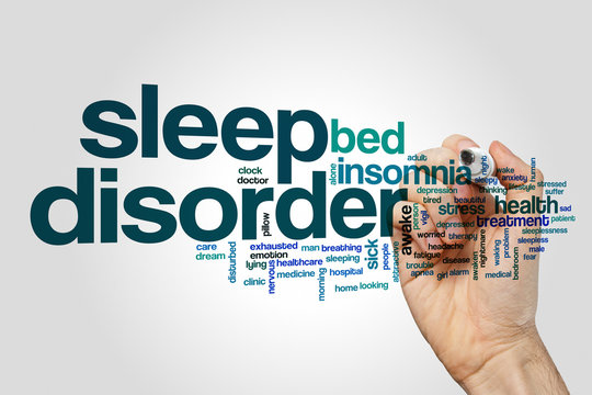 Sleep disorder word cloud concept
