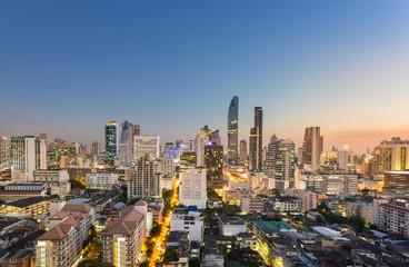 Bangkok cityscape in sunset time, Thailand