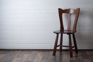 chair on wooden floor