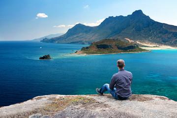 View Over Mediterranean Coastline