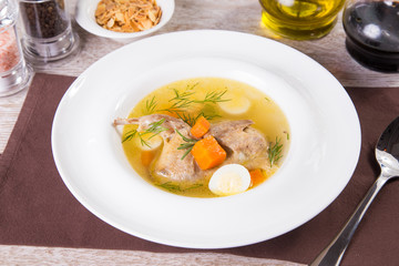 soup with duck meat