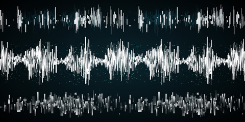 Sound wave on a dark background