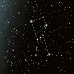 Orion constellation in night sky