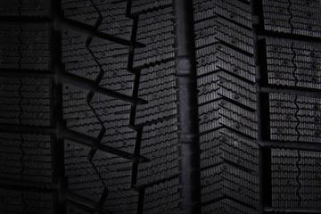 Winter tires close-up