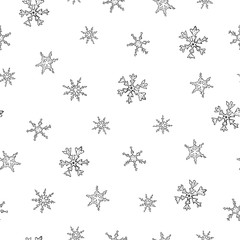Christmas seamless pattern with snowflake.
