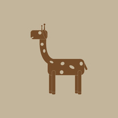 an animal with colorful backgrounds Giraffe icon