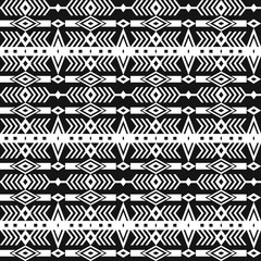 Tribal ethnic seamless pattern with geometric elements.