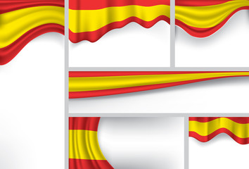 Abstract Spain Flag, Spanish Colors (Vector Art)