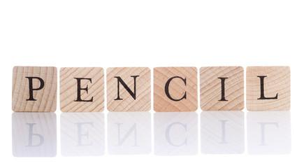wooden cubes-pencil