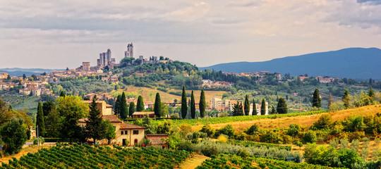 San Gimignano Stadt  Toskana Fototapete