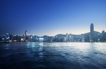 Wall Mural - Hong Kong Harbour at sunset