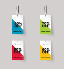 vector set of color full price and sale  tags designe