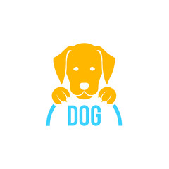 Dog sign and logo. Vector for veterinary clinic.