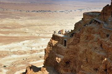 Blick von der Festung Masada in die Ebene