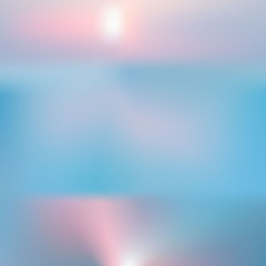background sunset on the sea water sun reflection. Abstract sunset with de focused lights