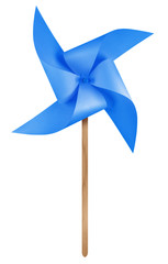 Paper windmill pinwheel - Blue