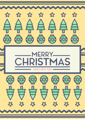 Merry Christmas Card Cover Sock Background Vector Design and Layout Illustration
