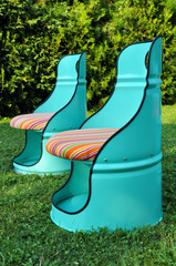 Oil barrels chairs