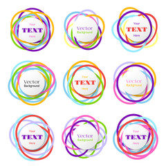Wall Mural - Colored rings banners. Colorful overlapping circles bubbles