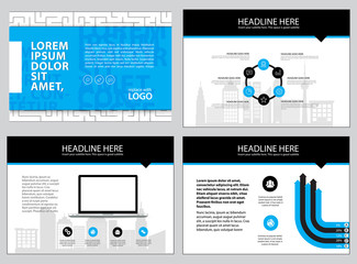 Page layout design template for presentation and brochure , Annual report, flyer page with infographic element