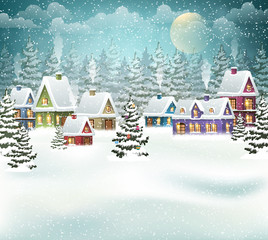 Christmas winter village