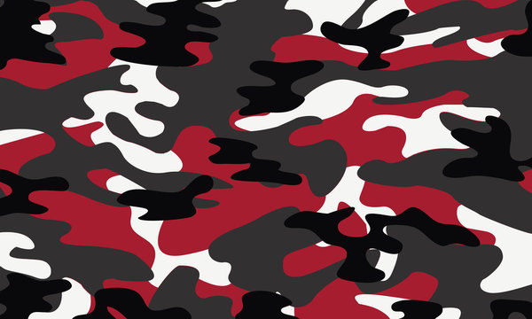 vector background of soldier red camo pattern