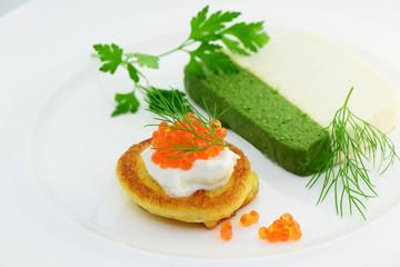 Recess Fitting Appetizer Kaviar , Fischterrine