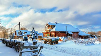 Русская деревня зимой