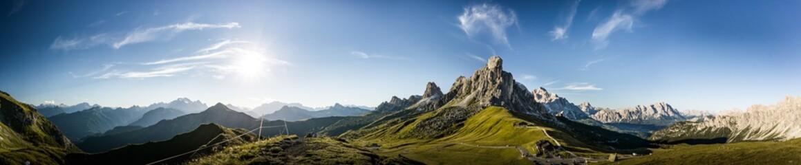 Foto auf Acrylglas Panoramafotos Dolomites panorama