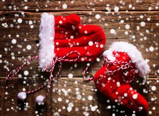Guanto e stivale di Natale