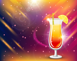 Colorful Cocktail In Glass Composition