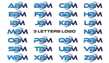 3 letters modern generic swoosh logo ABM, BBM, CBM, DBM, EBM, FBM, GBM, HBM, IBM, JBM, KBM, LBM, MBM, NBM, OBM, PBM, QBM, RBM, SBM, TBM, UBM, VBM, WBM, XBM, YBM, ZBM