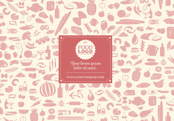 Food and Cooking Supplies Pattern