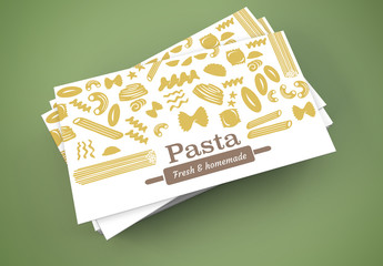 Pasta Maker Business Card Layout