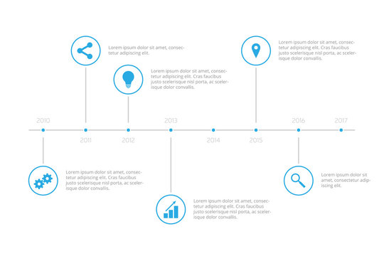 Simple Infographic Timeline - Sky Blue