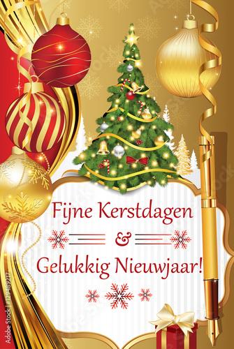 fijne kerstdagen en gelukkig nieuwjaar dutch language merry christmas and happy new year