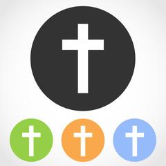Christian cross mark icons. Vector illustration.