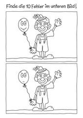 Fehlerbild Karneval Clown