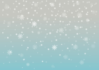 snowfall in the air. winter scene. christmas weather