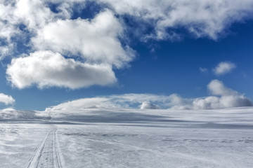 Snow covered hill, Ailigas, Finland
