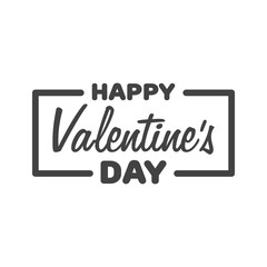 Greeting Card Happy Valentine's Day. Lettering Vector illustration