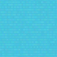 Blue background with crosses for embroidery. Vector illustration.