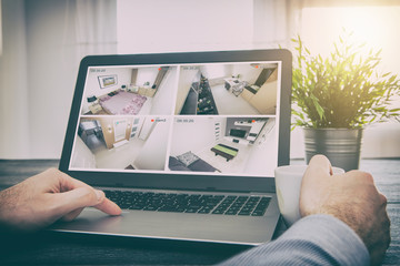 Obraz home camera cctv monitoring system alarm smart house video - fototapety do salonu