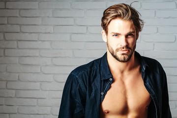 sexy handsome muscular man Wall mural